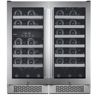 Avallon AWC500TZ Built-In 30 Inch Wide 50 Bottle Capacity Wine Cooler with Dual