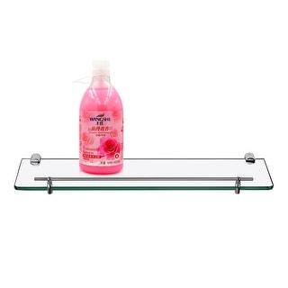 Bathroom Glass Shelf with Towel Bar