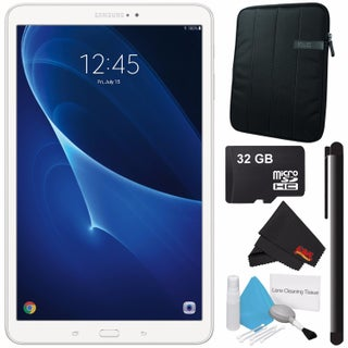 "Samsung 10.1"" Galaxy Tab A T580 16GB Tablet (Wi-Fi Only) SM-T580NZKAXAR + Tablet Neoprene Sleeve 10.1"" Case (Black) Bundle"