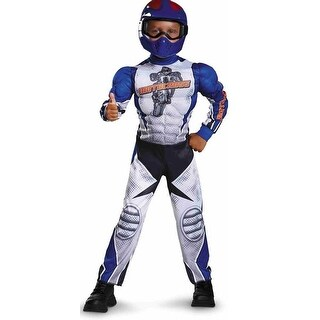 Motorcycle Rider Toddler Costume Muscle Chest - Blue