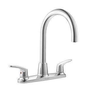 American Standard 7074.550  Colony Pro Double Handle High-Arch Gooseneck Kitchen Faucet - Polished Chrome