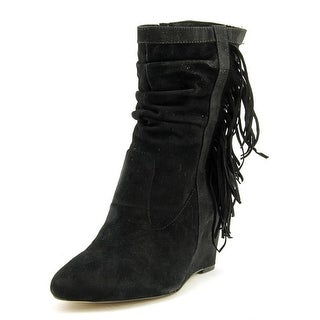 INC International Concepts Everleeh   Round Toe Suede  Ankle Boot