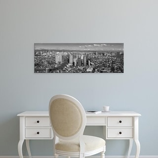 Easy Art Prints Panoramic Images's 'Aerial view of cityscape, Makati, Philippines' Premium Canvas Art