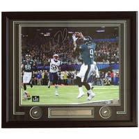 Nick Foles Signed Framed 16x20 Eagles Super Bowl 52 Philly Special Photo BAS