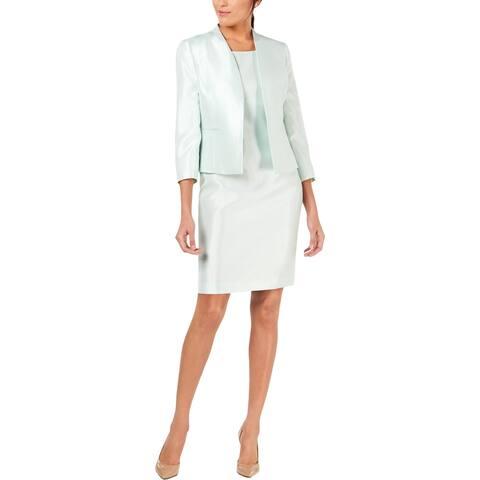Le Suit Womens Dress Suit Long Sleeves Shinny - Mint - 6