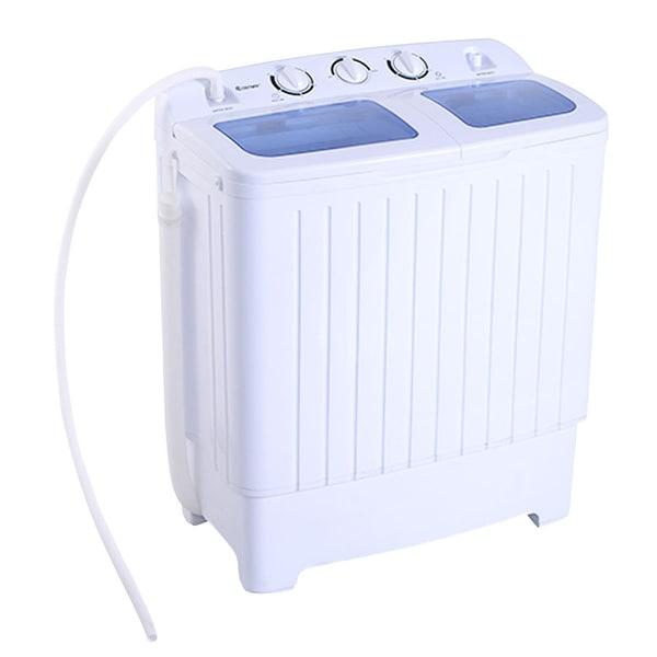 Costway Portable Mini Compact Twin Tub 17.6lb Washing Machine Washer Spin Dryer