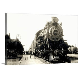"""""""Train in station"""" Canvas Wall Art"""