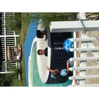 Portable Inflatable Bubble Massage Spa Hot Tub 6 Person - Black