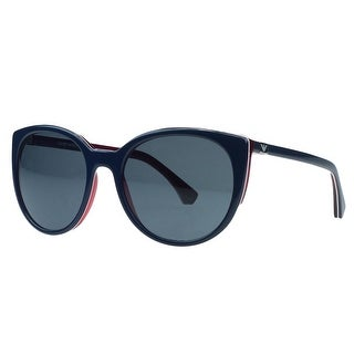 Emporio Armani EA 4043 535287 Navy Blue/Red Round Sunglasses