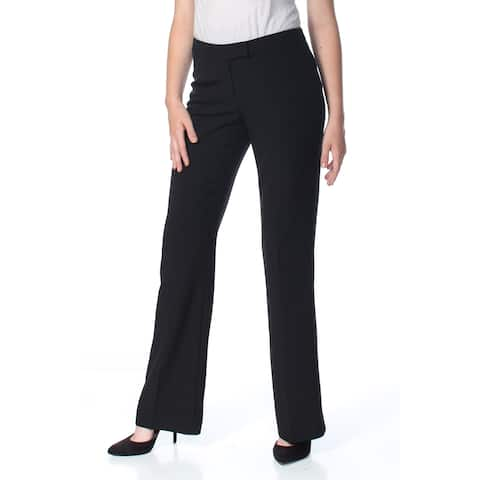 ANNE KLEIN Womens Black Crepe Wear To Work Pants Size: 4