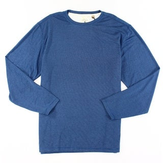 Tasso Elba NEW Blue Mens Size 2XL Crewneck Thermal Long-Sleeve Sweater