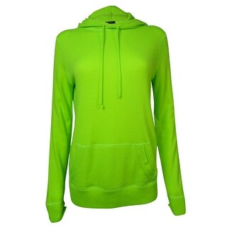 Polo Ralph Lauren Women's Solid Knit Cashmere Hoodie - Neon Green