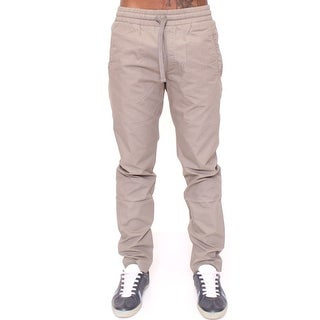 Dolce & Gabbana Dolce & Gabbana Gray Regular Fit Cotton Pants - it46-s