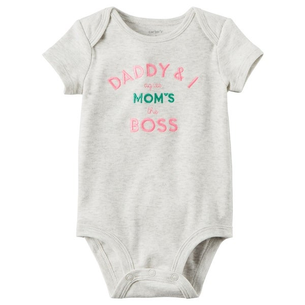 697ab14ed Shop Carter's Baby Girls' Mom's The Boss Collectible Bodysuit, 24 Months -  Free Shipping On Orders Over $45 - Overstock - 20232347