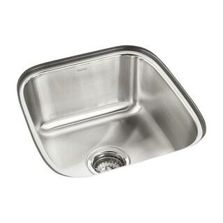 "Sterling 11448 SpringDale 16-1/4"" Single Basin Undermount Stainless Steel Bar Sink with SilentShield"