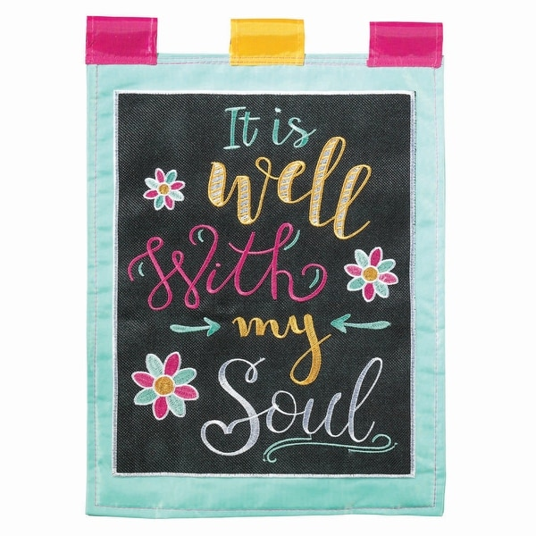 "Chalk Art Well With My Soul Garden Flag 18"" x 13"" - N/A"