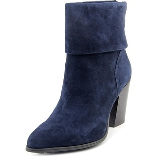Alfani Lauree Women Pointed Toe Suede Blue Ankle Boot