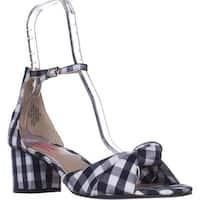Betsey Johnson Ivee Ankle Strap Sandals, Blue Gingham