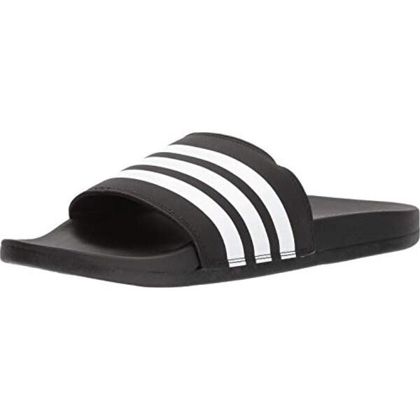 bb7abd56c0277 adidas Men's Adilette Comfort Slide Sandal White/Black, 8 M US