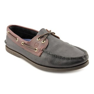 Sperry Top Sider A/O 2-Eye Moc Toe Leather Boat Shoe