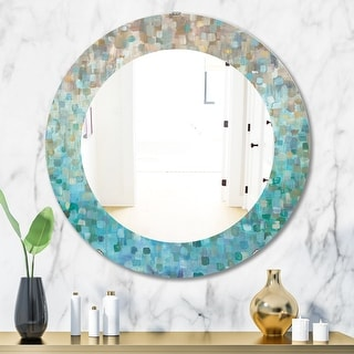 Link to Silver Orchid Brian 'Blocked Abstract' Traditional Mirror - Blue Similar Items in Mirrors
