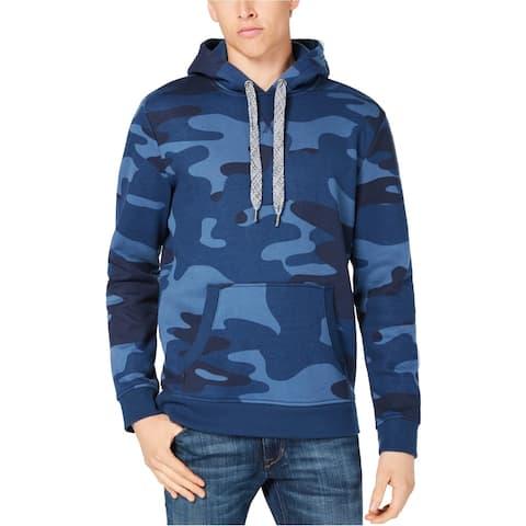 American Rag Mens Camo Hoodie Sweatshirt, Blue, XX-Large