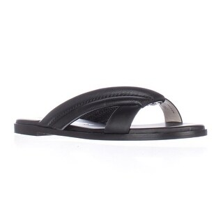 Matt Bernson Raven Pointed Toe Slide Sandals - Black