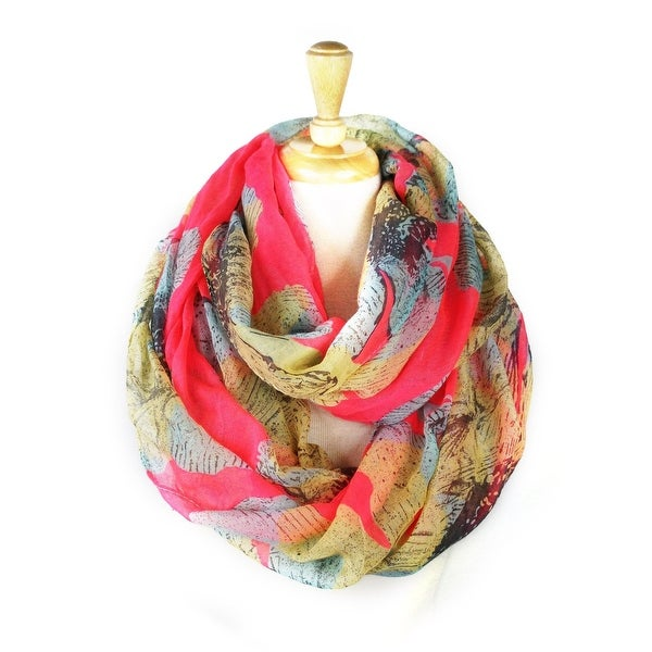 Women's Floral Lightweight Soft Infinity Loop Scarves