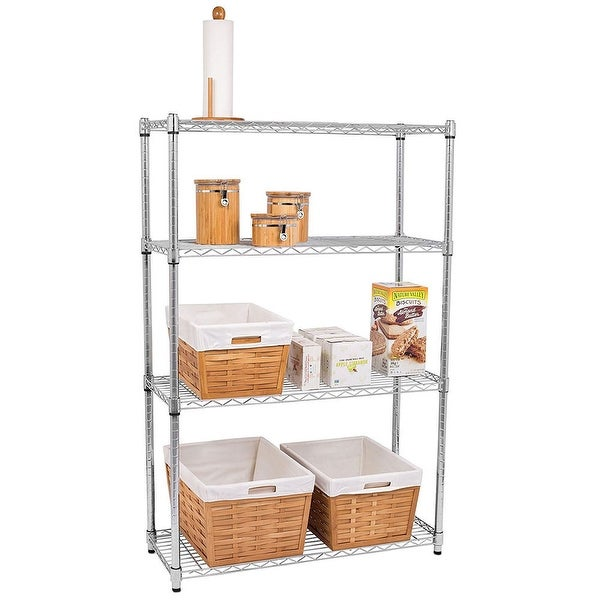 Chrome Plated Metal 4-Shelf Pantry Shelving. Opens flyout.