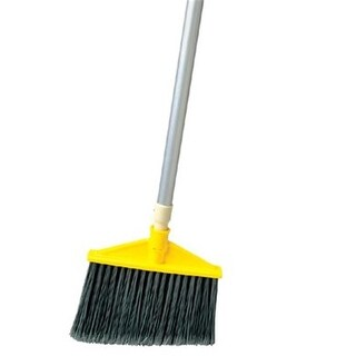 Rubbermaid Commercial 640-6385-GRAY Brute Flagged Broom Polyfill Gray