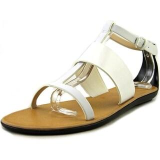 French Connection Tamara Women Open Toe Synthetic White Gladiator Sandal