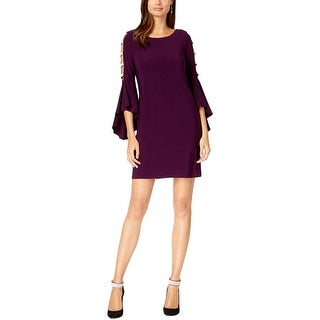 Link to MSK Womens Cocktail Dress Bell Sleeve Lattice Similar Items in Dresses