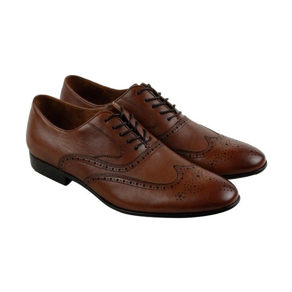 Kenneth Cole New York Mix B Mens Brown Leather Casual Dress Oxfords Shoes