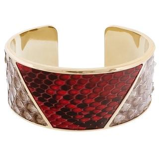 Stamerra PITTONE ROSSO Red Genuine Python Bracelet