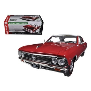 1966 Chevrolet Chevelle SS 396 L78 Red Christmas Edition 1/18 Limited to 750pc by Autoworld
