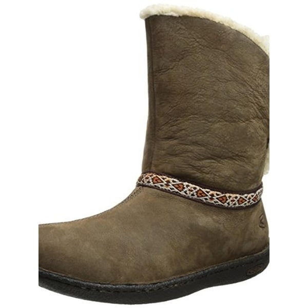 Keen Womens Galena Winter Boots Leather Mid Calf