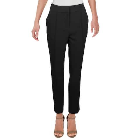 Vince Camuto Womens Dress Pants Stretch Pintuck - Rich Black