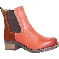 Dromedaris Women's Kourtney Chelsea Boot Rusty Leather/Suede