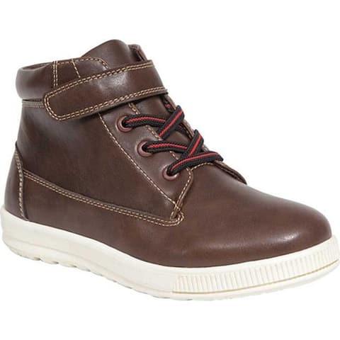 Deer Stags Boys' Niles High Top Sneaker Dark Brown Simulated Leather