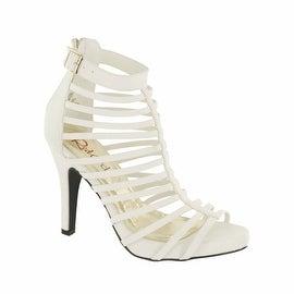 Red Circle Footwear 'Amauri' High Heel Gladiator Sandal in White