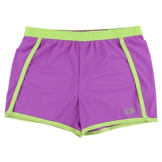 The North Face Girls Pulse Shorts Magenta - magenta/lime - L