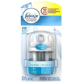 Febreze NOTICEables Dual Refill Scented Oils, Linen & Sky 0.87 oz