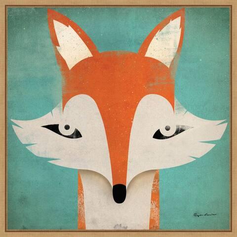 Fox WOW by Ryan Fowler Framed Canvas Art