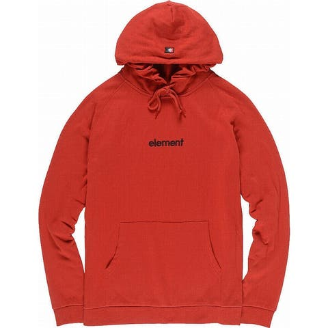 Element Mens Sweaters Red Size XL Fleece Knit Hooded Logo Pullover
