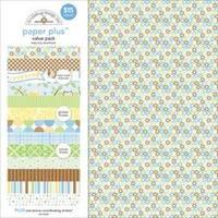 """Baby Boy - Doodlebug Paper Plus Value Pack 12""""X12"""" 8/Pkg"""