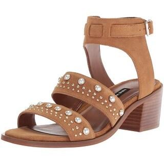 Nine West Women's Richgal Suede Heeled Sandal