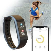 Indigi Bluetooth Fitness Tracking Smart Band (Heart Rate Monitor + Pedometer + Blood Pressure + SMS/Call Alerts