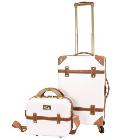 Gatsby 2 Piece Hardside Carry-On Luggage Set Ivory