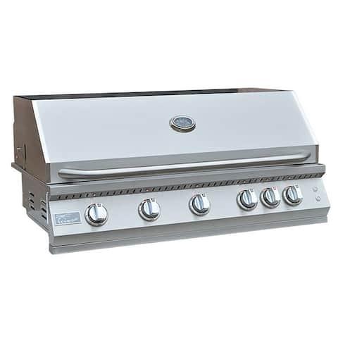 KoKoMo Grills Outdoor Kitchen Built-in 4 Burner 32 Inch Professional Illuminated BBQ Grill with Back Burner