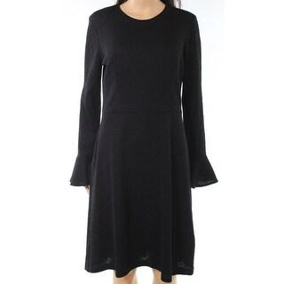 London Times Womens Jecquard Bell Cuff Sheath Dress